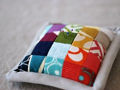 quilted pincushion | by Bijou Lovely
