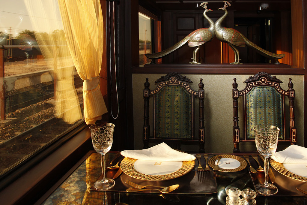 Maharajas Express Luxury Train India Restaurant Flickr
