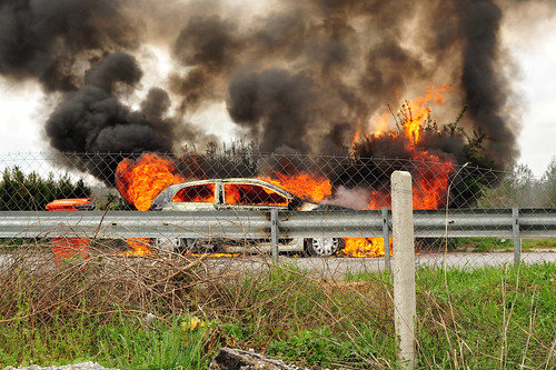 Highway Car Fire | by goingslowly