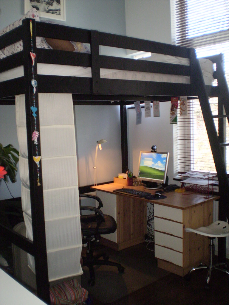 Stora loft bed this loft bed from ikea saves so much space flickr - Ikea bunk bed room ideas ...