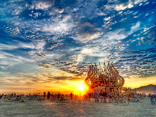 Sunrise at The Temple, Burning Man 2009 | by Michael Holden