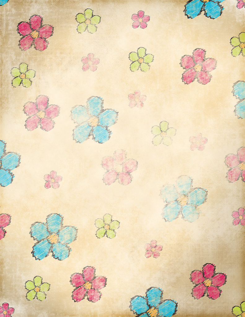 Grunge Flowers Free Scrapbook Paper To Print About This Flickr