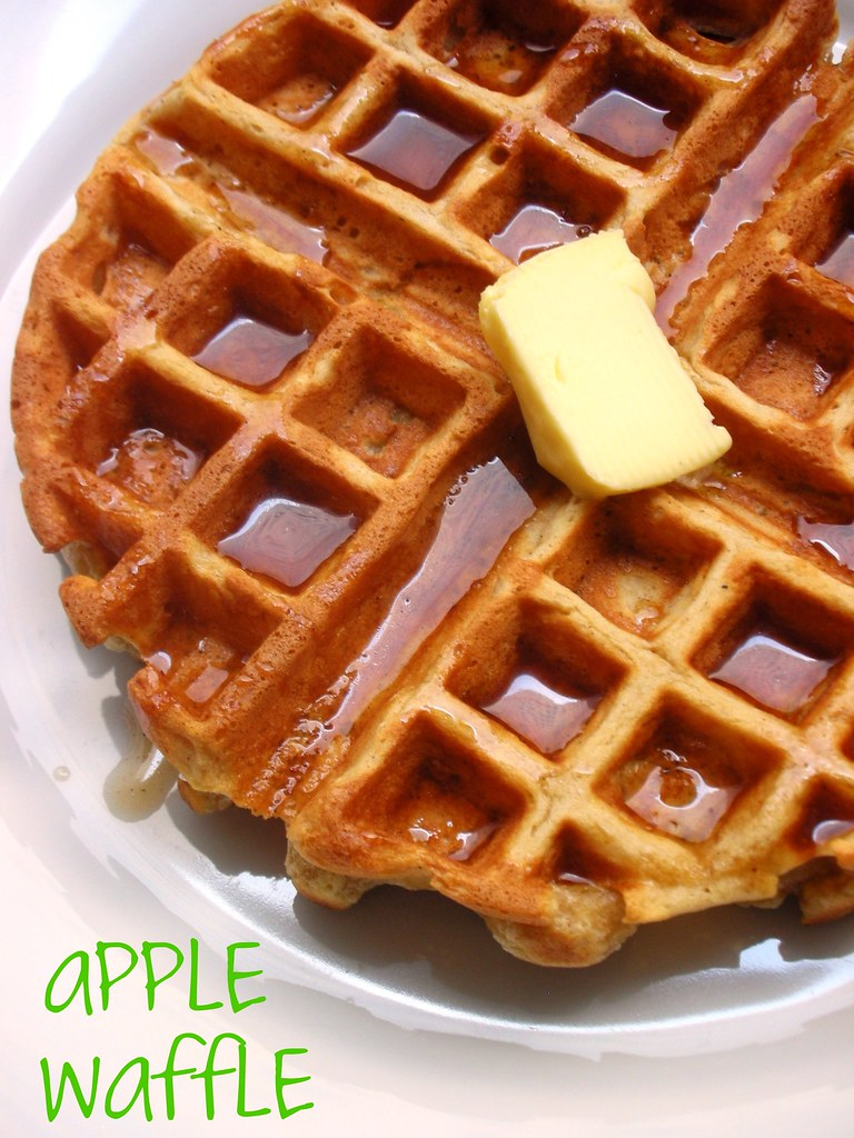 apple waffle | with cider-maple syrup awhiskandaspoon.com/ | Stephanie ...