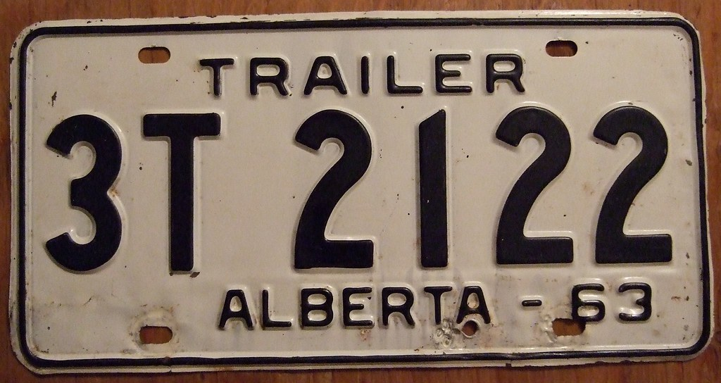 Tractor License Plates : Alberta tractor trailer license plate this was