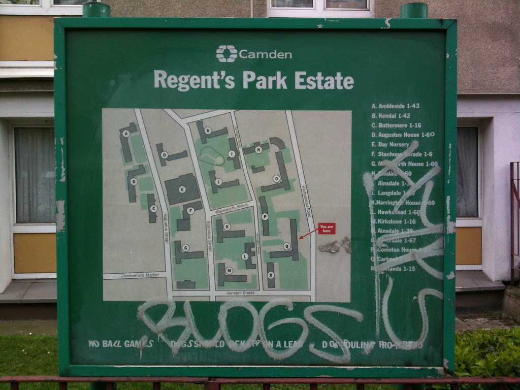 Regents Park Estate map Mark Atkinson Flickr