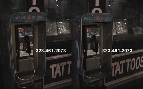 3D, Payphone 323-461-2073, Vine Theatre, 6315 Hollywood Blvd., Hollywood, California, night, 2010.04.18 23:02 | by Dr. Disney Wizard
