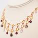 Lavender Lace with Amethyst & Garnet Gems Handmade Necklace