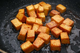 Pressed Tofu Browned | by dinnercakes