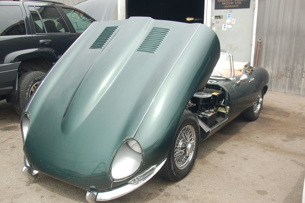 Jaguar E Type 4 2 At Samuel S In Allston Hood Up