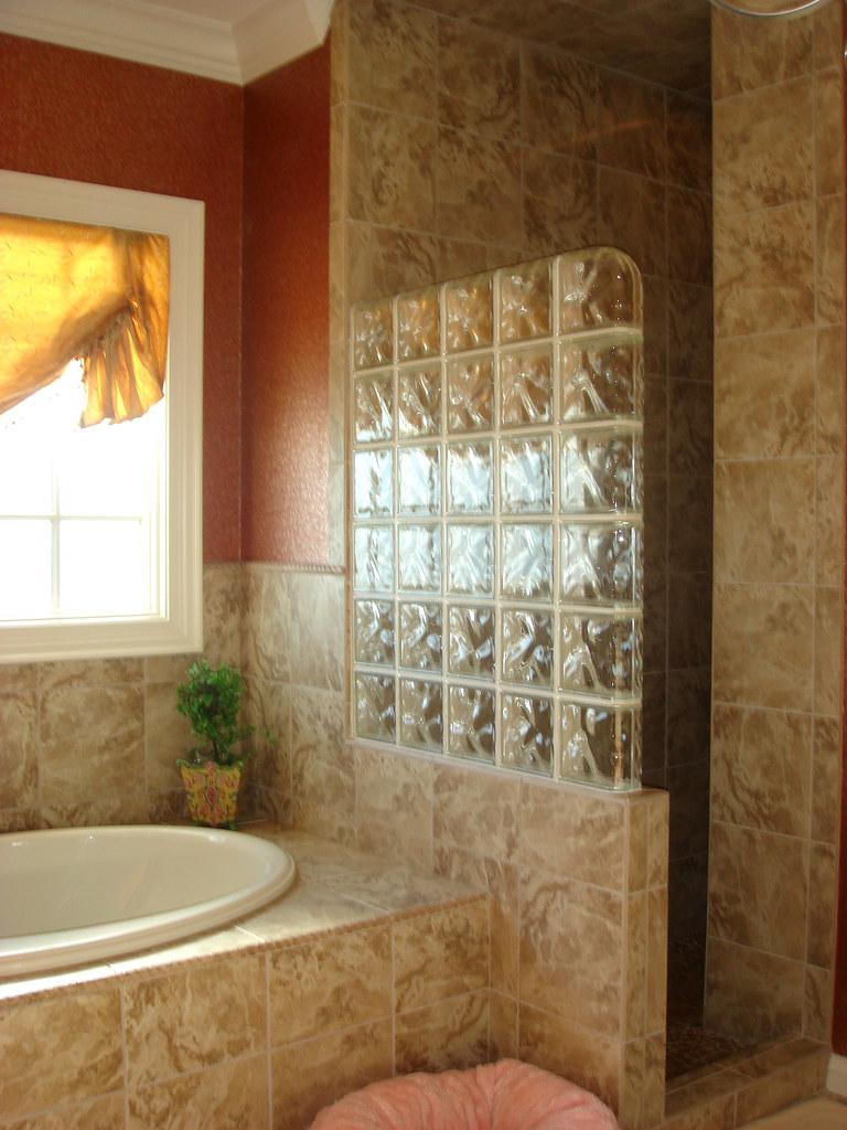 Glass Block Shower Entrance Generation Tile Amp Stone Flickr