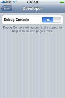 Turn on the debug console | by misterbisson