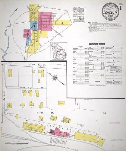 Louisville GA  Louisville Sanborn Index Map 1921