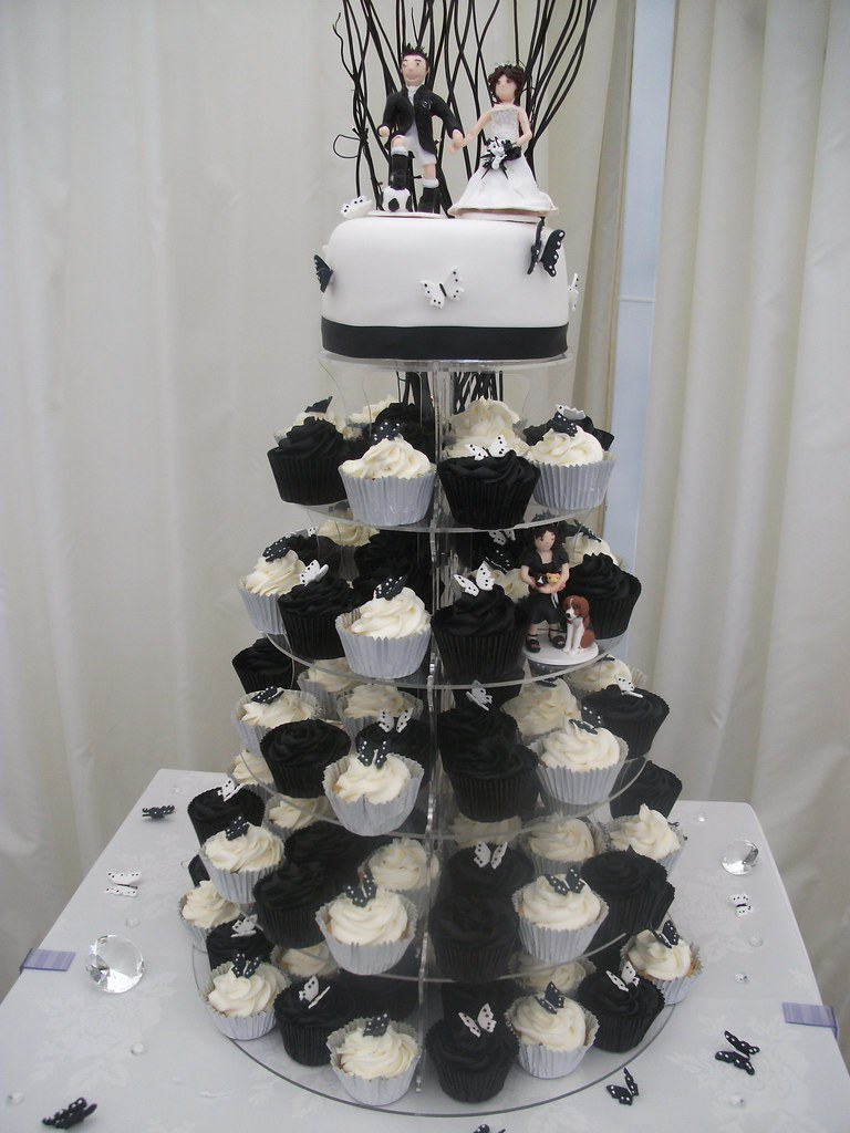 Black Amp White Wedding Butterfly Cupcakes Chocolate