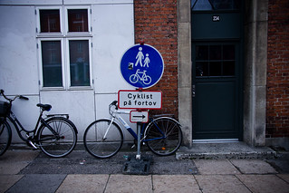 Cyclist on the Sidewalk | by Mikael Colville-Andersen