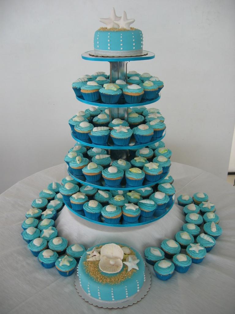 Beach Theme Cupcakes Liza Flickr