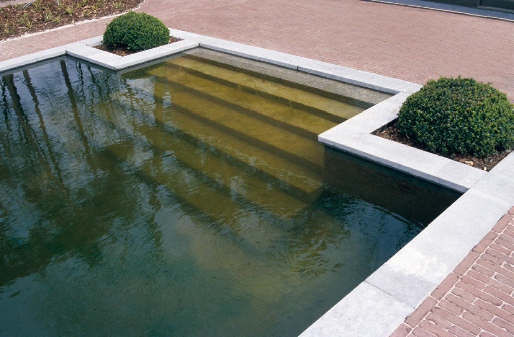 The pond an element of modern garden design a water for Modern garden pond designs