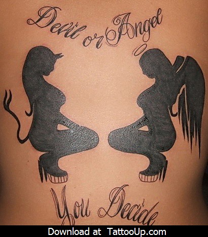 Theme Devil fucking angel tattoo mistake
