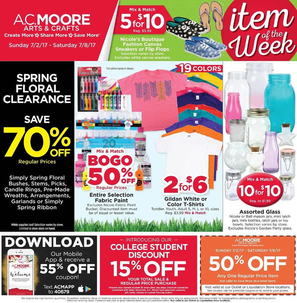 Ac moore weekly sales flyer : Modernmanbags com