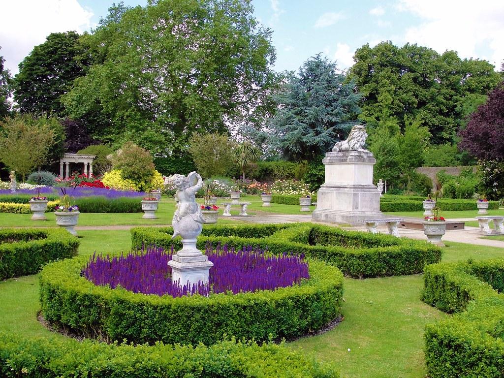 the walled garden at sunbury   picnik colour edit   maxwell hamilton