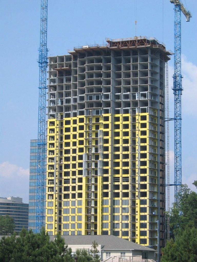 Densglass sheathing on a high rise condo