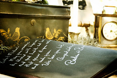 Guestbook table | by dan y deri