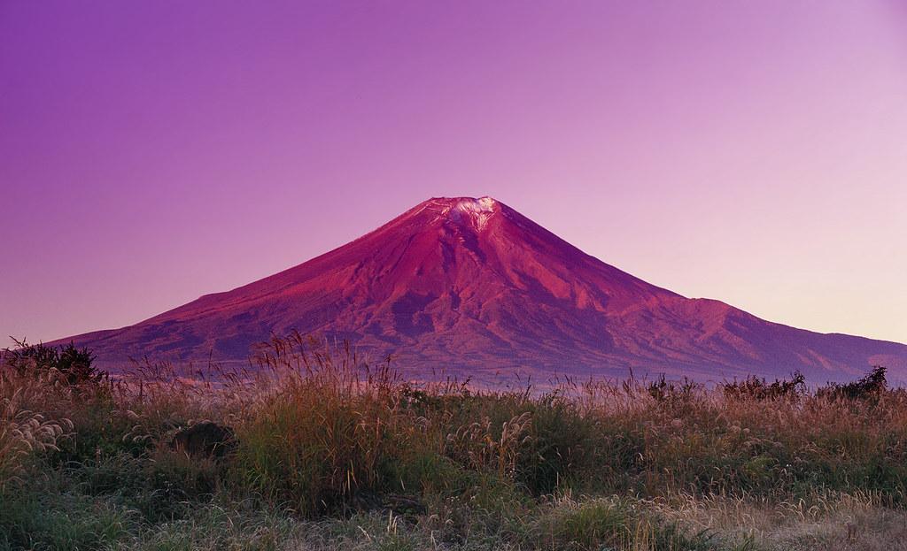 凱風快晴 Red Fuji, after Katsushika Hokusai | Mount Fuji ...