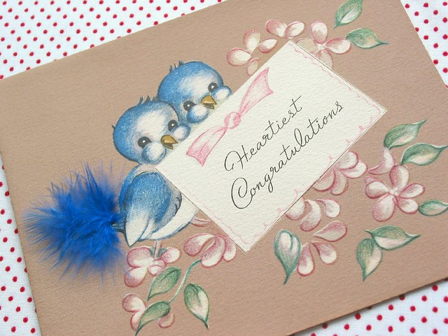 Vintage bluebird greeting card treasures from grandmas at flickr vintage bluebird greeting card by niesz vintage fabric m4hsunfo