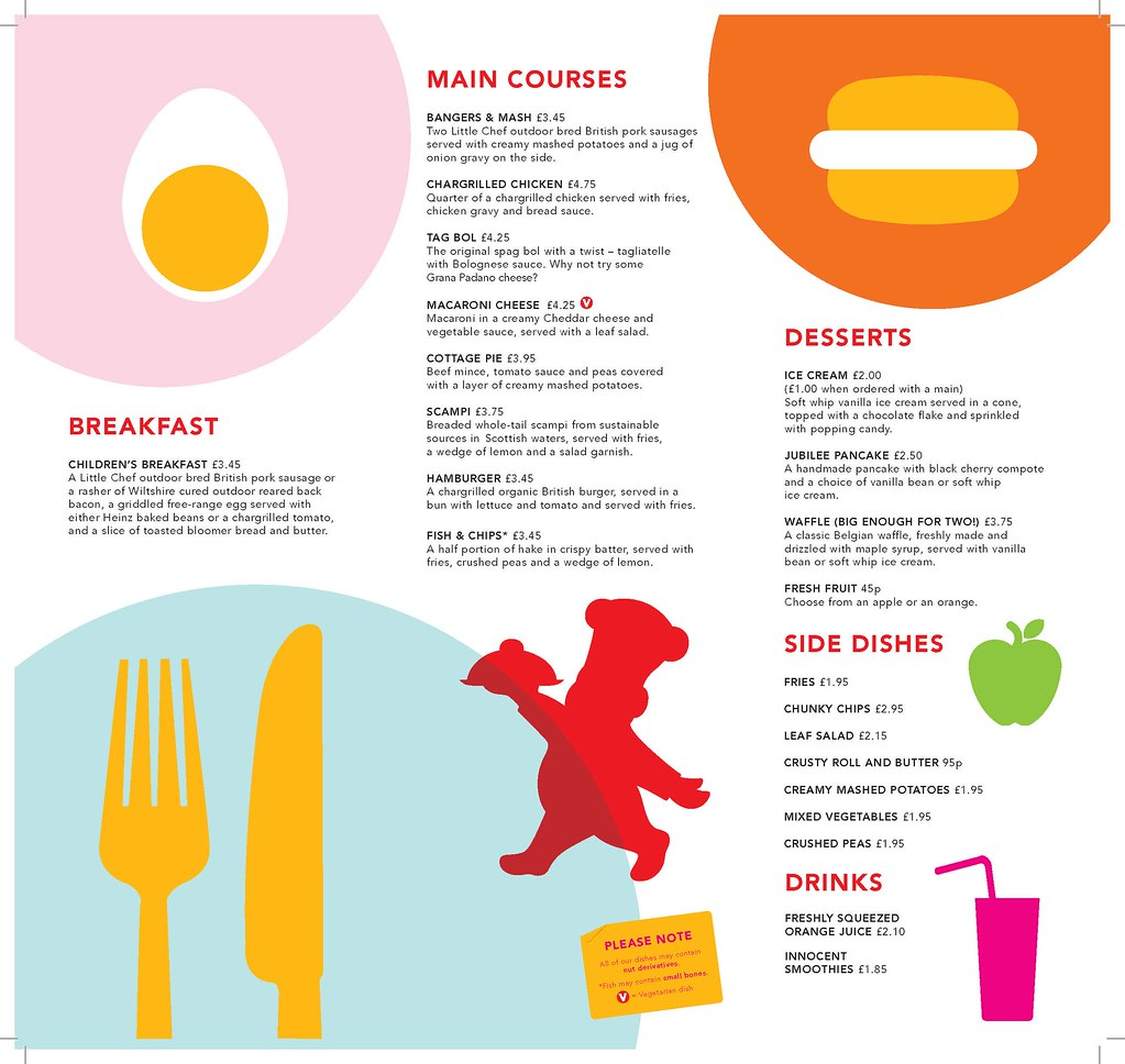 Little Chef Popham York & Kettering West Kids Menu