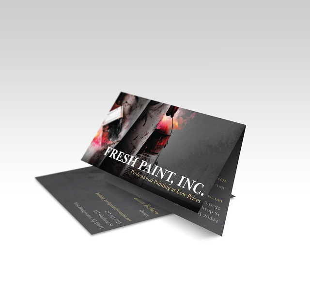 Vistaprint Folded Business Card fire paint