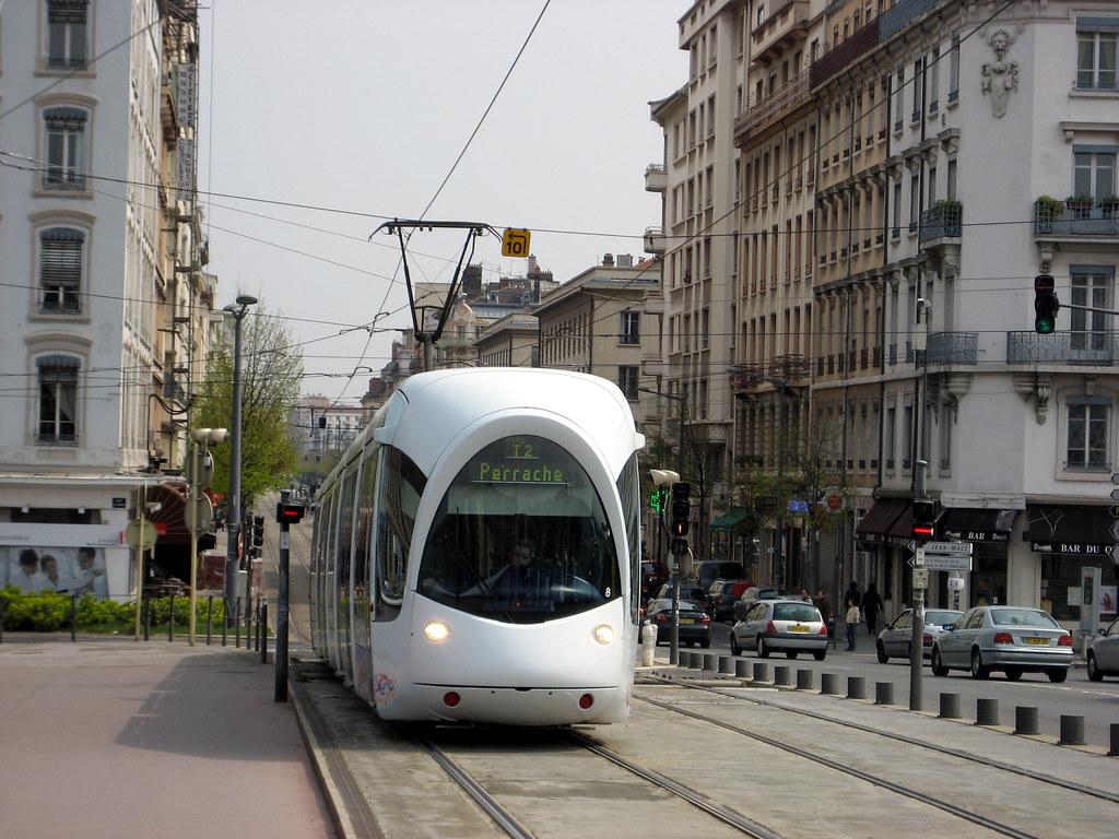 tram lyon tcl citadis typ 302 linie t2 auf der pont gallie flickr. Black Bedroom Furniture Sets. Home Design Ideas