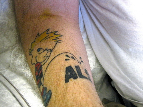 Brother's New Pee on ALS tattoo | by Tojosan