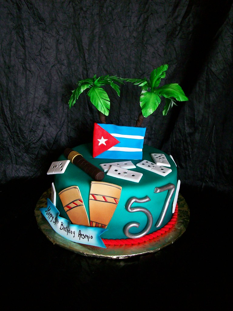 Cuban Themed Birthday Cake Made This For A Sweet Lady Who Flickr