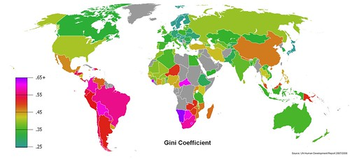 Gini_Coefficient_World_Human_Development_Report_2007-2008 | by jiruan