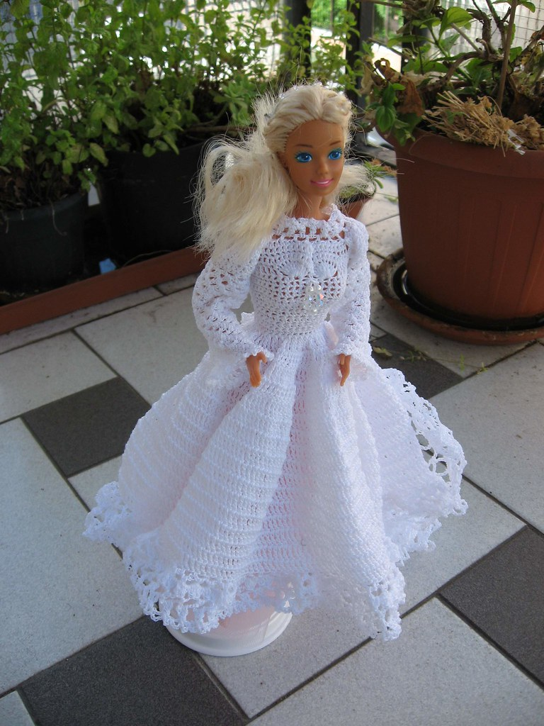 Abiti Da Sposa Uncinetto.Barbie Sposa Abito Da Sposa Interamente Fatto Ad Uncinetto Flickr