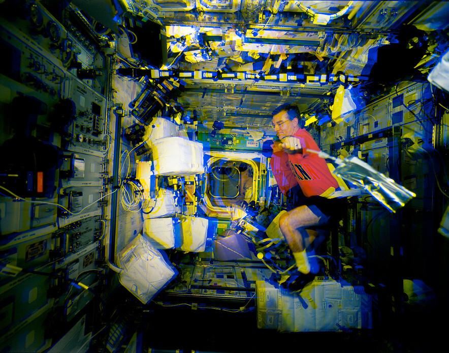 Inside the international space station, amber-blue | Flickr