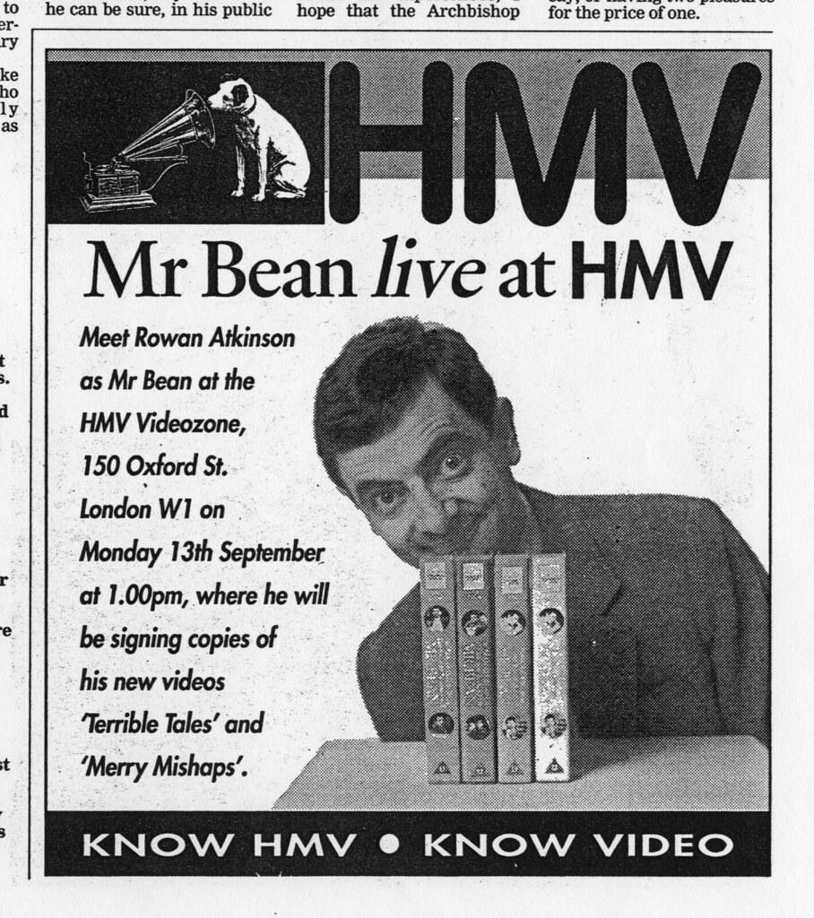 Mr bean at hmv 150 oxford circus london 1993 rowan atkins flickr mr bean at hmv 150 oxford circus london 1993 by hmvgetcloser gumiabroncs Image collections