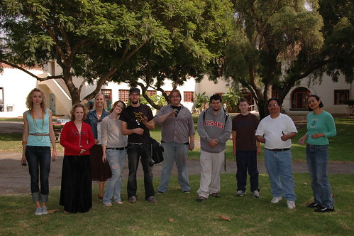 Group photo of Art Walk participants | by California State University Channel Islands