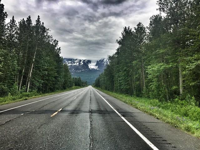 Una carretera cualquiera de Alaska