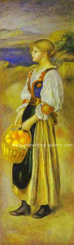 Girl with a Basket of Oranges, 1889 | by DarFin Oil Painting