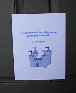 Knight Birthday party welcome sign | by Sweet Shoppe Mom and Simply Sweets