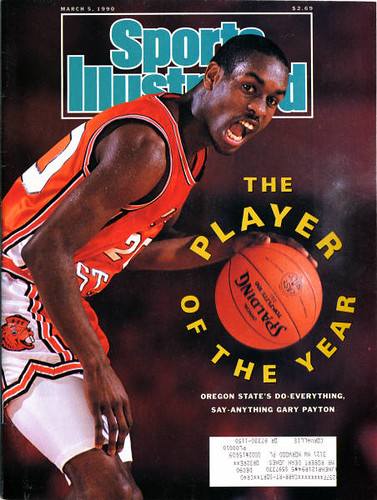 Illustrated Book Cover Archive : Sports illustrated cover with gary payton image title