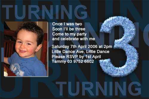 Boys 3rd birthday party invitations Boys 3rd birthday part Flickr