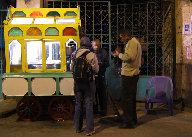 Koshary cart, Cairo