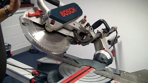 Bosch GCM 12SD Circular Saw in Action | Up-close action ...