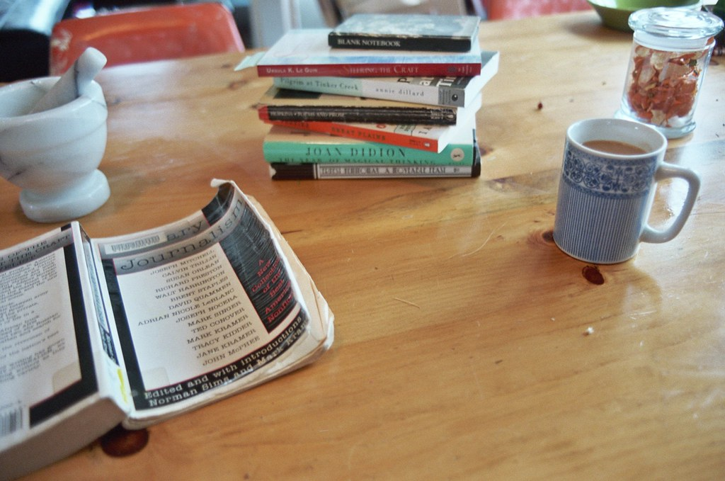 Image result for book on kitchen table