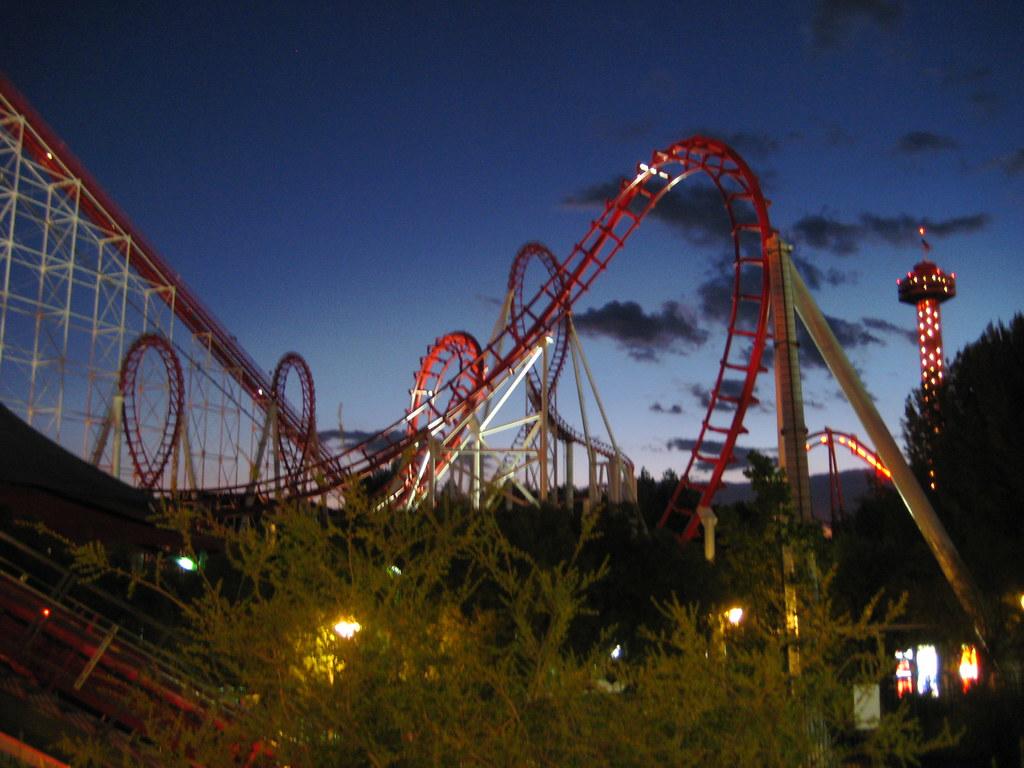 viper @ night (six flags magic mountain)   veejaye   Flickr