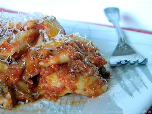Baked Ravioli w/ Meat Sauce | by CinnamonKitchn