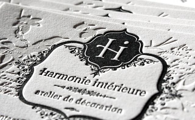 Harmonie int rieure letterpress cards i figure out i for Harmonie interieur