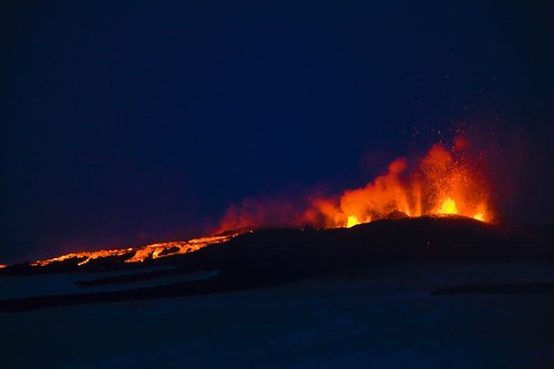 Volcanic Eruption at Fimmvörðuháls | by ツ Kj Photography ツ http://kristinjons.com