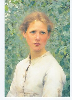 SIR GEORGE CLAUSEN, R.A., R.W.S., R.I. | Head of Polly Baldw |Sir George Clausen Head Girls